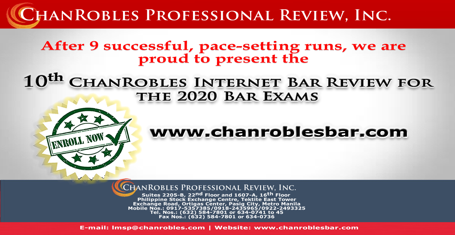ChanRobles On-Line Bar Review