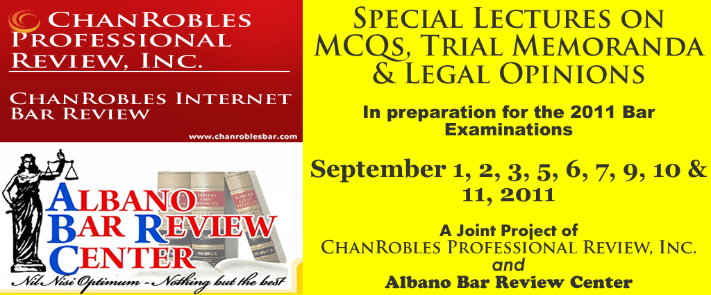 ChanRobles Internet Bar Review for the 2019 Bar Exams,
