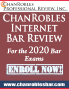 CHANROBLES BAR REVIEW