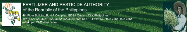FERTILIZER AND PESTICIDE AUTHORITY (FPA), REPUBLIC OF THE