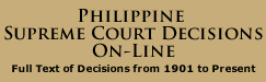 Philippine Supreme Court Decisions