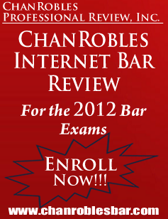 POLITICAL LAW : 2010 BAR EXAMINATION QUESTIONS : CHAN ROBLES